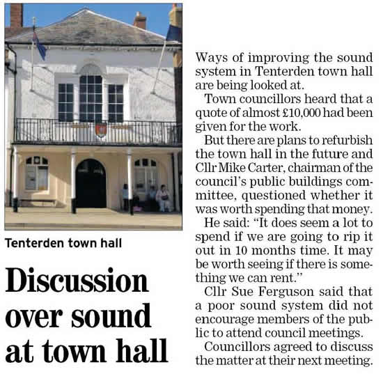 Town Hall Sound System