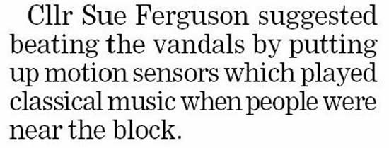 Classical music to deter vandals
