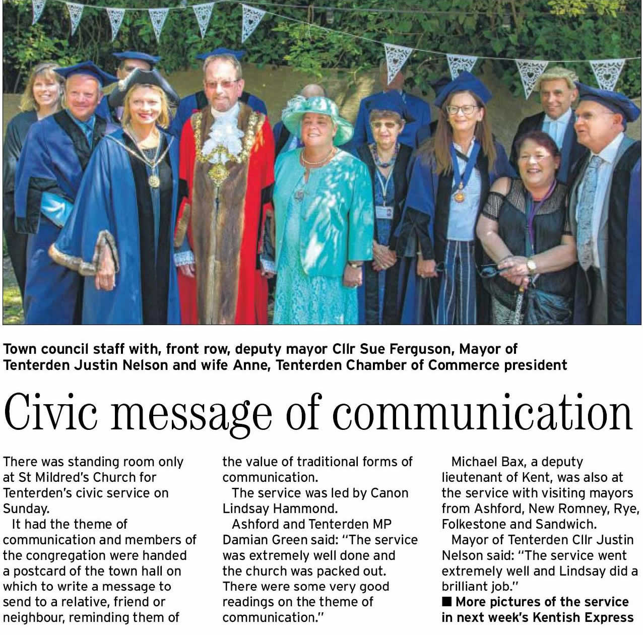 Civic Service and Mayors Sunday 2017