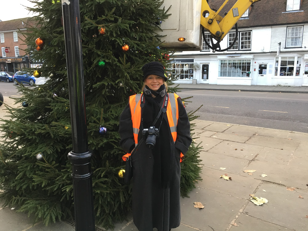 Tenterden Town Christmas tree photos and video 2017
