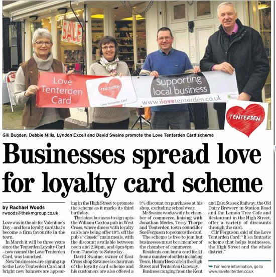 SuUpport for the Tenterden Loyalty Card